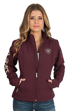 Ariat Women's Maroon Softshell Team Cavender's Exclusive Jacket | Cavender's