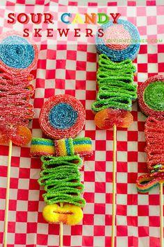 DIY Candy Skewers. So cute!