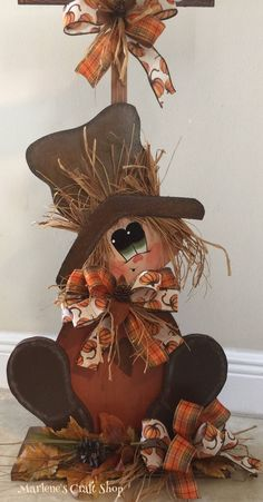 Fall Decoration, Scarecrow Decoration,Thanksgiving decoration, Scarecrow, Farmhouse decoration, porch decoration, house warming decoration, by MarlenesCraftShop on Etsy
