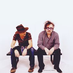 Johnny Depp with Tim Burton.