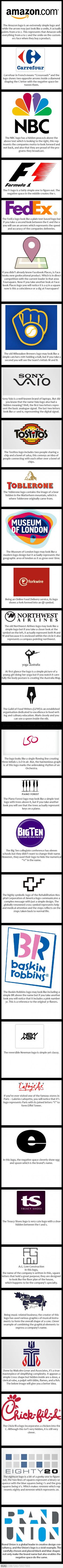 30 logos with hidden messages