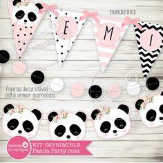 Panda Themed Party, Panda Birthday Party, Bear Party, Baby Birthday, Panda Decorations, White Party Decorations, Party In A Box, Party Kit, Baby Panda Bears