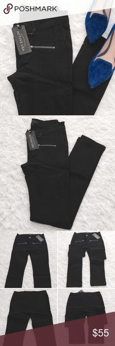 Quilted Moto Skinny Pants These are so amazing! Quilt pattern down the side (ends about thigh length). Hugging yet offers some stretch. Zipper pockets in front. Zipper & button closure. Pants Skinny