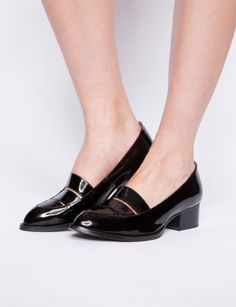 Maclaine patent loafers