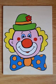 Art Drawings For Kids, Drawing For Kids, Easy Drawings, Art For Kids, Crafts For Kids, Drawing Ideas, Clown Crafts, Online Painting Classes, Clown Paintings