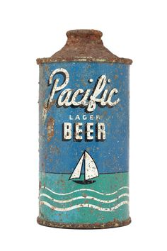 Vintage Graphic Design Vintage Packaging: 500 Beer Cans from Around the World - The Dieline - The Vintage Tins, Vintage Labels, Beer Can Collection, Retro Packaging, Old Beer Cans, Lager Beer, Beer Brands, Vintage Graphic Design, Vintage Lettering