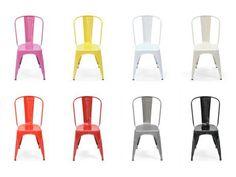 Chaise A Tolix - Chaise repas d'intérieur design en acier - Mobilier industriel - Keneah jardin