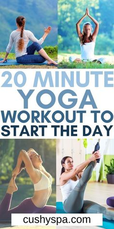 You don't need a lot of time in the morning to have great yoga practice when you try this 20-minute morning yoga workout to start your day fresh. You can enjoy a more relaxed morning with this quick yoga practice. #Yoga #Workout Yoga Sequences, Yoga Poses, Yoga Facts, Morning Yoga Workouts, Practice Yoga, Yoga Motivation, Yoga For Flexibility, Workout Music, Vinyasa Yoga