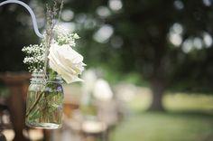 Hanging Flowers At Wedding