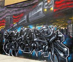 Subway Trains on NYC Walls with: Damien Mitchell, Downer Jones, Bella Amaral, Danielle Mastrion, Dek 2DX, Shiro and Cern