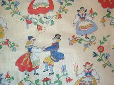Vintage Swedish Design Fabric. I so wish I had a yard of this...