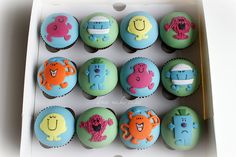 Mr Men Cupcakes by donna_makes_cakes, via Flickr