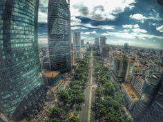 Paseo de la Reforma, #Mexico City by +c13studio #cdmx #drone #gopro  Carlos Alcocer  Tour By Mexico - Google+