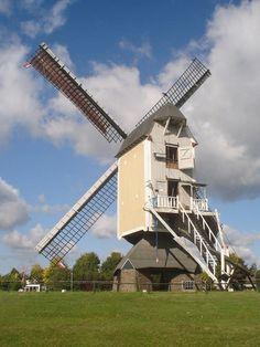 Flour mill, Aurora, Baexem, the Netherlands. Holland Windmills, Flour Mill, Le Moulin, Throughout The World, Aurora, Interior And Exterior, Netherlands, Dutch, Landscape