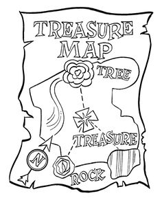 treasure map black and white kids party Pinterest Treasure
