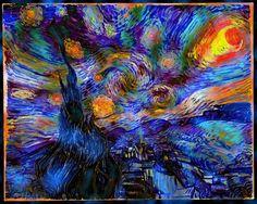 starry night van gogh | Artwork-y: The Derivative Starry Night (Vincent Van Gogh)