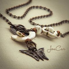 """Vintage Butterfly Necklace No. 18123 (22"""") $46"""