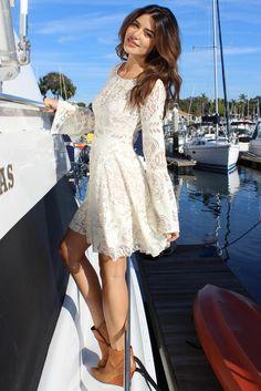 Shoptiques Product: Boho Lace Dress - main