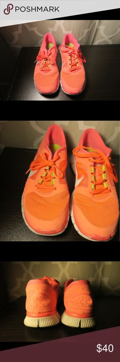 Nike Free 5.0 Need a good wash otherwise good condition. Neon pink & lime green Nike Shoes Sneakers