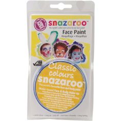 Reeves Snazaroo Face Paint 18ml: Bright Yellow by Reeves. $9.52. 766416112224. Reeves. 111-9222. Brand New Item / Unopened Product. Snazaroo Face Paint. This package contains (1) 18ml compact of the world's favorite face and body paint. This water-based paint features vivid colours, easy-on and easy-off, non-toxic and kid friendly, long lasting and FDA compliant. Washes off with simple soap and water. Paint may stain fabrics and on rare occasion cause an allergic reaction. ...