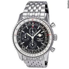 Breitling Navitimer 1461 Chrono Black Dial Steel Mens Watch A1937012-BA57SS