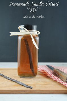 Homemade Vanilla Extract ~ Miss in the Kitchen