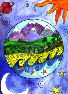 April Art Projects For Kids Earth Day Earth Day Projects, Spring Art Projects, Earth Day Crafts, School Art Projects, Projects For Kids, 2nd Grade Art, Ecole Art, Art Lessons Elementary, Arte Popular