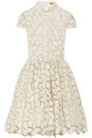 Alice + OliviaJayna metallic cotton-blend lace dress