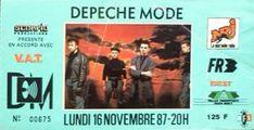 1987-11-16 Palais Omnisports de Paris-Bercy, Paris, France - Depeche Mode Live Wiki