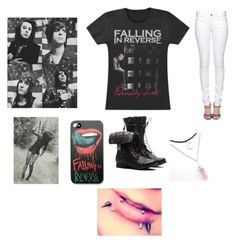 """Falling In Reverse"" by cassieee-m ❤ liked on Polyvore featuring Citizens of Humanity"