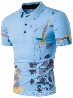 Ericdress Print Casual Polo Men's T-Shirt