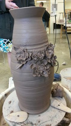 Teaching Detail and throwing larger work ceramics My example