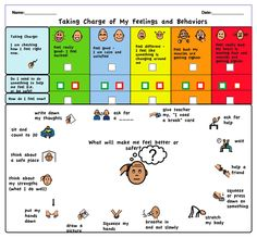Calm down strategies visual support.