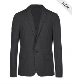 Allsaints Teslin Jacket in Gray for Men (Charcoal)