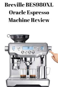 Product Overview The fact that the Breville BES980XL is the first automatic manual espresso machine to have been ever created in the world, speaks volumes about this coffee maker, isn't it? It automates all the important processes involved in brewing the espresso – grinding, tamping, dosing and milk texturing. It is a hybrid coffee maker that impresses all coffee lovers at one glance. Here is a brief overview of this coffee maker for your reference. Best Home Espresso Machine, Espresso Machine Reviews, Coffee Lovers, Grinding, Brewing, Manual, Coffee Maker, Milk, Coffee Maker Machine