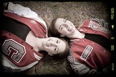 Best Friends : Senior Portraits in Everett, Washington Sister Pictures, Poses For Pictures, Best Friend Pictures, Friend Photos, Cute Pictures, Letterman Jacket Pictures, Letterman Jackets, Varsity Jackets, Senior Portraits