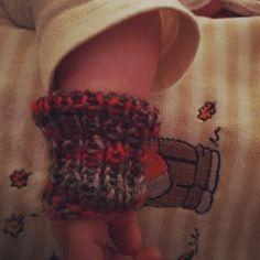grandma knit a wristlet - it was great in winter