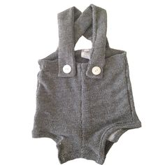 Charcoal Gray High Waisted Romper from Salt City Emporium
