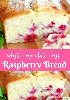 White Chocolate Chip Raspberry Bread   https://lomejordelaweb.es/