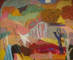 The Pink Lamp.K Bellinger Gallery tel 0439180346 Pink Lamp, Street Trees, Over The Bridge, Canvas 5, Rock Pools, Mixed Media Canvas, Sally, Landscape Paintings, Scene