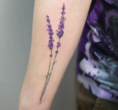 Lavender Tattoo by Anna Botyk # Tattoo Designs Tatto Design, New Tattoo Designs, Tattoo Designs For Girls, Tattoo Sleeve Designs, Sleeve Tattoos, Rose Tattoos, Flower Tattoos, New Tattoos, Body Art Tattoos