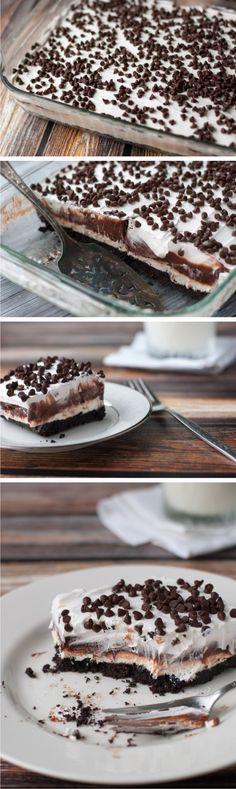 Chocolate Lasagna – A Chocolate Lover's Treat - chocolate, dessert