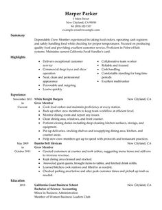 need help creating an unforgettable resume build your own standout document with this professional crew member resume sample