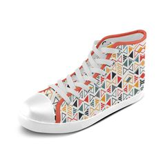 MBI Pattern Color Cool And Cute Design Custom Artsadd High Top Canvas Shoes for Women(Model002)