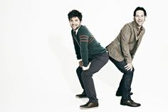 I want to be best friends with Paul Rudd and Adam Scott toooo! or best friends with paul rudd and marry adam scott! Good People, Pretty People, Beautiful People, Adam And Paul, John Mulaney, Paul Rudd, Parks N Rec, Love My Husband, Plaid Pants