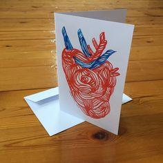 Corazón Tres tarjetas postales por beatrizchamussy en Etsy
