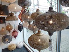 Mooie handgemaakte Filigrain gaatjes lampen uit India, Egypte en Marokko bij…
