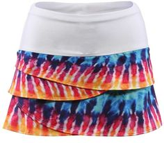 Lucky in Love Tie Dye Scallop Skort