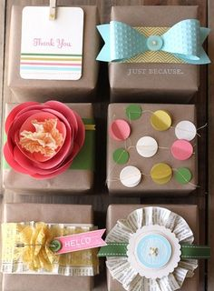Gift wrapping-Such Great Ideas!!