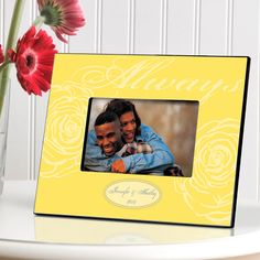 Golden 50th Anniversary Personalized Frame - - Anniversary Gifts By Year